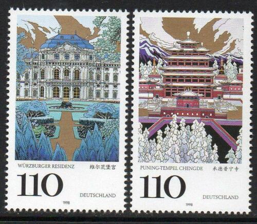 Poštovní známky Nìmecko 1998 Dìdictví UNESCO Mi# 2007-08