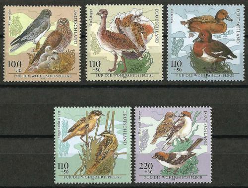Poštovní známky Nìmecko 1998 Chránìní ptáci Mi# 2015-19 Kat 11€