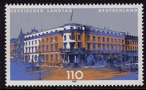 Poštovní známka Nìmecko 1999 Parlament ve Wiesbadenu Mi# 2030