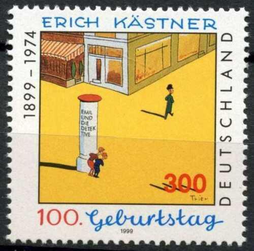 Poštovní známka Nìmecko 1999 Ilustrace, Erich Kästner Mi# 2035