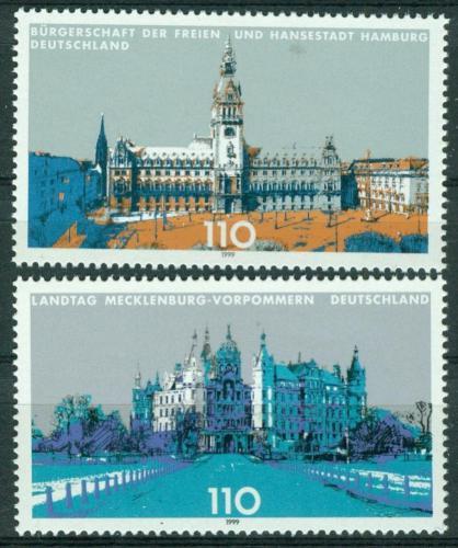 Poštovní známky Nìmecko 1999 Budovy parlamentù Mi# 2036-37