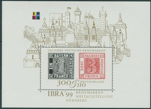 Poštovní známka Nìmecko 1999 Výstava IBRA Mi# Block 46 Kat 6€