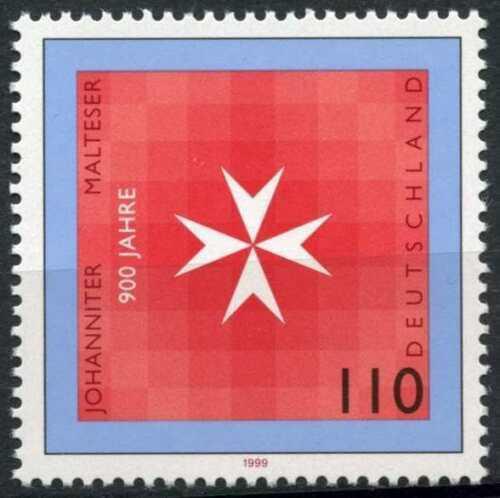 Poštovní známka Nìmecko 1999 Maltézský køíž Mi# 2047