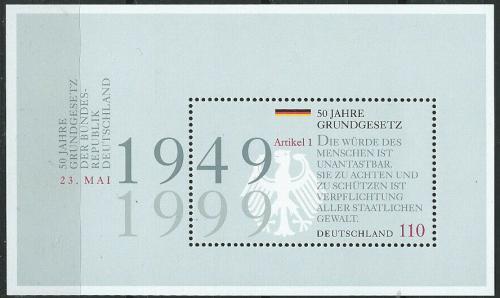 Poštovní známka Nìmecko 1999 Ústava, 50. výroèí Mi# Block 48
