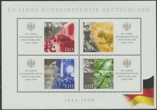 Poštovní známky Nìmecko 1999 Vznik republiky, 50. výroèí Mi# Block 49 Kat 6.50€