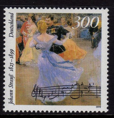 Poštovní známka Nìmecko 1999 Johann Strauß, skladatel Mi# 2061