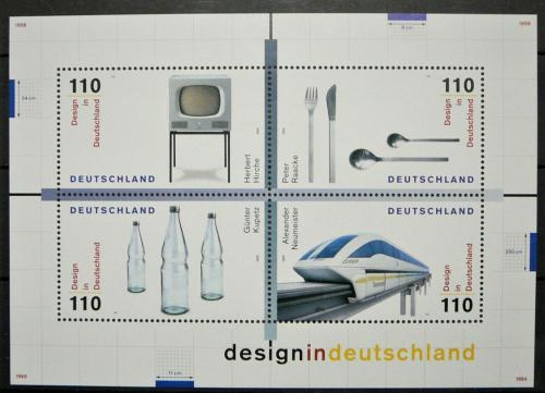 Poštovní známky Nìmecko 1999 Nìmecký design Mi# Block 50 Kat 6.50€