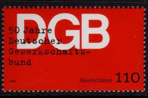 Poštovní známka Nìmecko 1999 Nìmecké odbory, 50. výroèí Mi# 2083