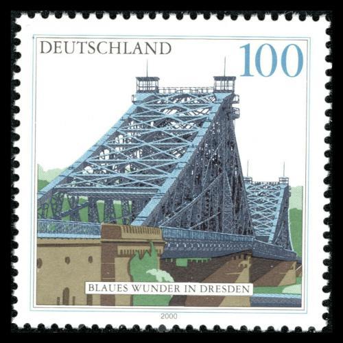 Poštovní známka Nìmecko 2000 Most Blaues Wunde Mi# 2109