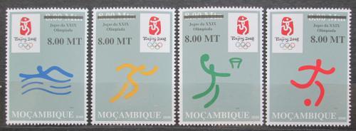 Poštovní známky Mosambik 2008 LOH Peking pøetisk Mi# 3075-78