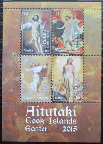 Poštovní známky Aitutaki 2015 Velikonoce, umìní Mi# Block 102 Kat 14€