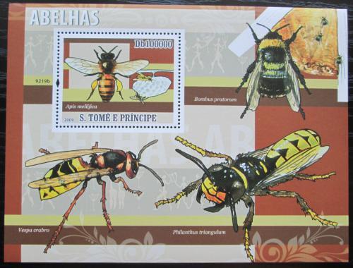 Poštovní známka Svatý Tomáš 2009 Blanokøídlý hmyz Mi# Block 680 Kat 10€