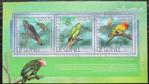 Poštovní známky Guinea 2014 Papoušci Mi# 10355-57 Kat 18€