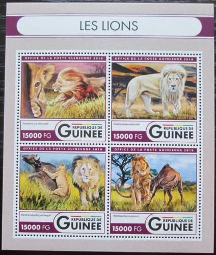 Poštovní známky Guinea 2016 Lvi Mi# 12066-69 Kat 24€