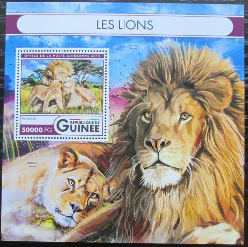 Poštovní známka Guinea 2016 Lvi Mi# Block 2709 Kat 20€