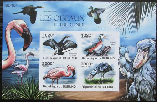 Poštovní známky Burundi 2011 Ptáci neperf. Mi# Block 155 B