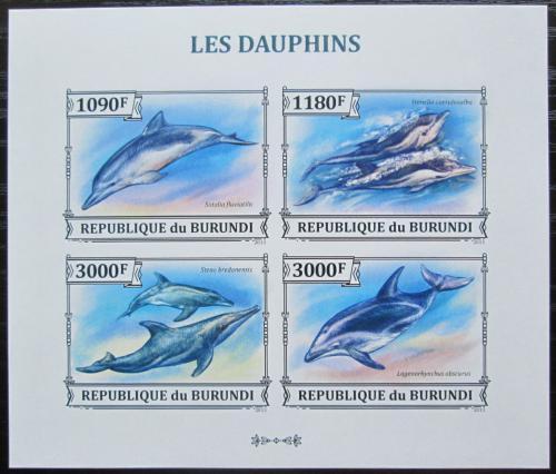 Poštovní známky Burundi 2013 Delfíni neperf. Mi# 3293-96 B