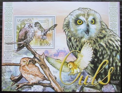 Poštovní známka Uganda 2012 Sovy Mi# Block 376 Kat 8€