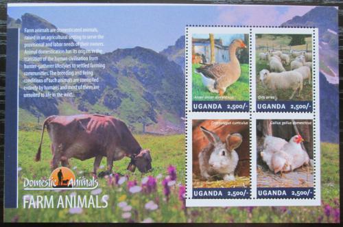 Poštovní známky Uganda 2014 Zemìdìlská zvíøata Mi# 3290-93 Kat 12€