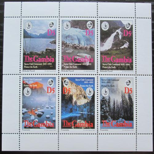 Poštovní známky Gambie 1994 Sierra Club, ochrana pøírody Mi# 1844-49 Kat 15€