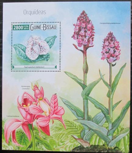 Poštovní známka Guinea-Bissau 2015 Orchideje Mi# Block 1400 Kat 11€