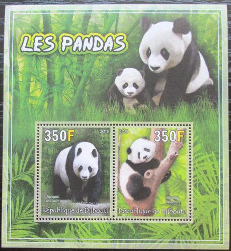 Poštovní známky Džibutsko 2013 Pandy Mi# N/N