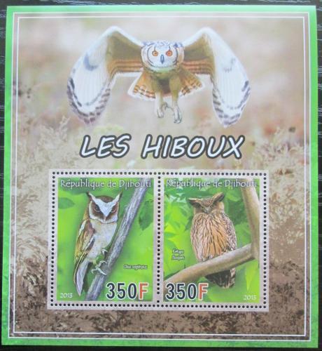 Poštovní známky Džibutsko 2013 Sovy Mi# N/N
