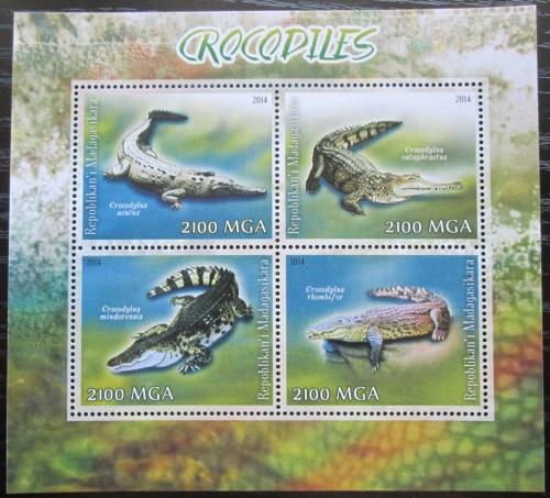 Poštovní známky Madagaskar 2014 Krokodýli Mi# N/N