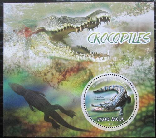 Poštovní známka Madagaskar 2014 Krokodýli Mi# N/N
