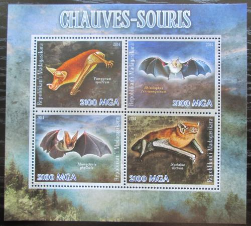 Poštovní známky Madagaskar 2014 Netopýøi Mi# N/N