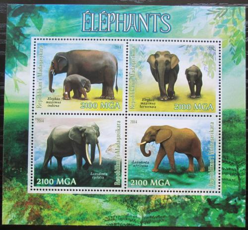 Poštovní známky Madagaskar 2014 Sloni Mi# N/N