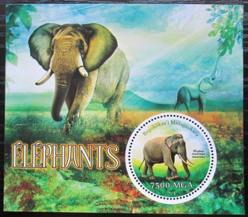 Poštovní známka Madagaskar 2014 Sloni Mi# N/N
