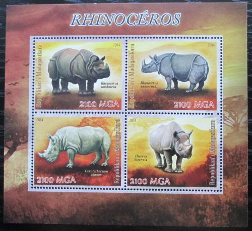 Poštovní známky Madagaskar 2014 Nosorožci Mi# N/N
