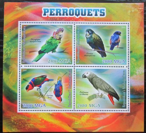Poštovní známky Madagaskar 2014 Papoušci Mi# N/N