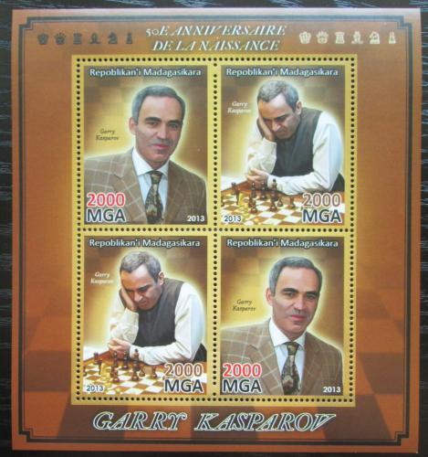 Poštovní známky Madagaskar 2013 Garri Kasparov, šachy Mi# N/N