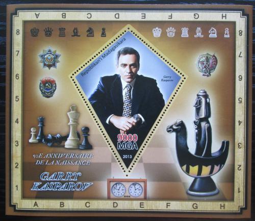 Poštovní známka Madagaskar 2013 Garri Kasparov, šachy Mi# N/N