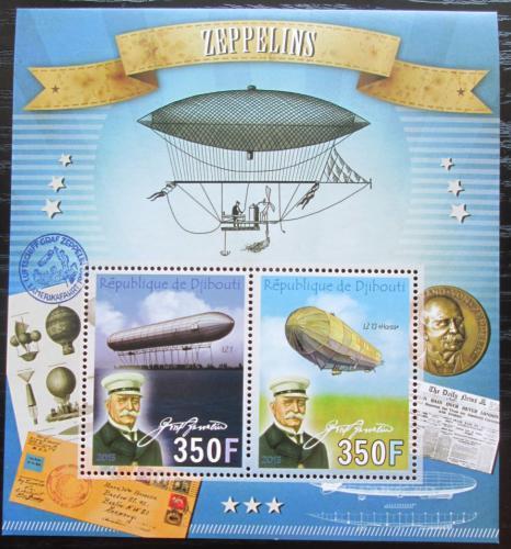 Poštovní známky Džibutsko 2013 Vzducholodì Mi# Mi# N/N