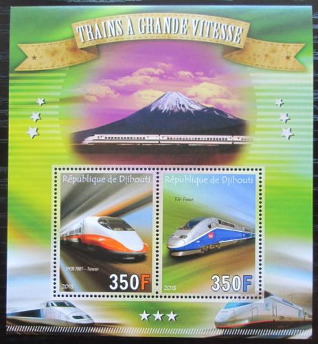 Poštovní známky Džibutsko 2013 Moderní lokomotivy Mi# Mi# N/N