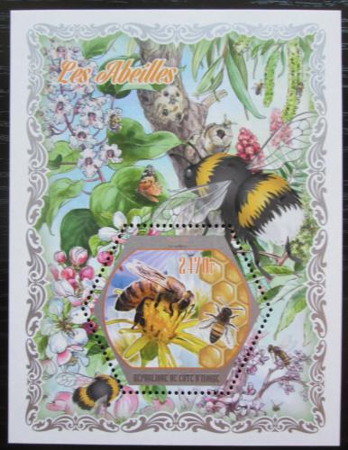 Poštovní známka Pobøeží Slonoviny 2018 Vèely Mi# Mi# N/N