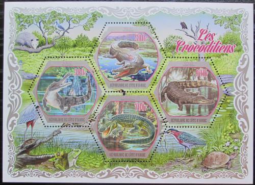 Poštovní známky Pobøeží Slonoviny 2018 Krokodýli Mi# Mi# N/N