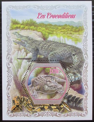 Poštovní známka Pobøeží Slonoviny 2018 Krokodýli Mi# Mi# N/N