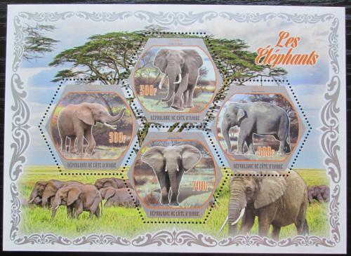 Poštovní známky Pobøeží Slonoviny 2018 Sloni Mi# Mi# N/N