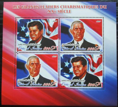 Poštovní známky Pobøeží Slonoviny 2011 Významní politici Mi# Mi# N/N