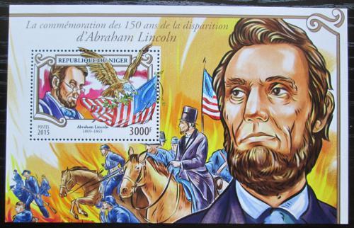 Poštovní známka Niger 2015 Abraham Lincoln Mi# Mi# Block 457 Kat 12€