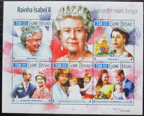 Poštovní známky Guinea-Bissau 2015 Královna Alžbìta II. Mi# Mi# 8205-09 Kat 13.50€