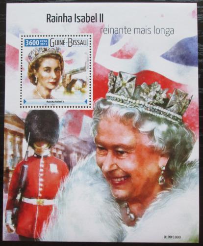 Poštovní známka Guinea-Bissau 2015 Královna Alžbìta II. Mi# Mi# Block 1424 Kat 13.50€