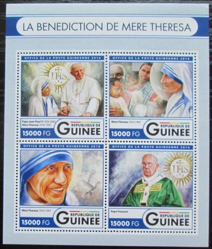 Poštovní známky Guinea 2016 Matka Tereza Mi# Mi# 12131-34 Kat 24€