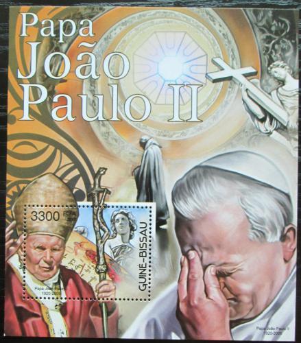 Poštovní známka Guinea-Bissau 2012 Papež Jan Pavel II. Mi# Mi# Block 1090 Kat 13€