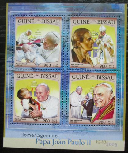 Poštovní známky Guinea-Bissau 2016 Papež Jan Pavel II. Mi# Mi# 8674-77 Kat 13.50€