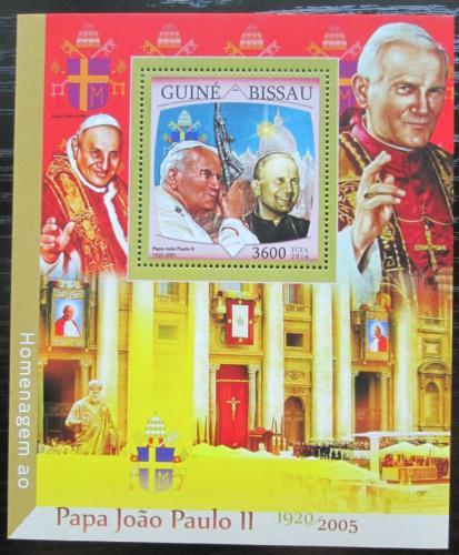 Poštovní známka Guinea-Bissau 2016 Papež Jan Pavel II. Mi# Mi# Block 1504 Kat 13.50€